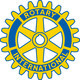 Rotary logo blue gold white background